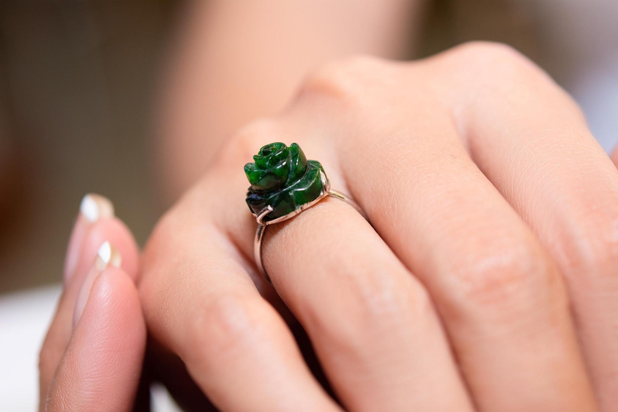 Nhẫn Hoa Mẫu Đơn Ngọc Sơn Thủy