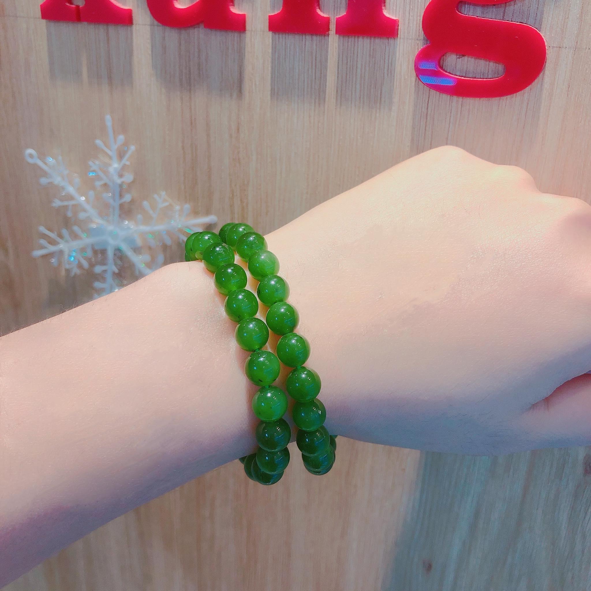 Chuỗi vòng cổ Ngọc Bích linh hoạt có thể đeo cổ và đeo tay